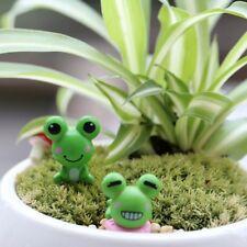 Frog Figurine Miniature Ornaments Resin Home Fairy Garden Bonsai Statue Decor