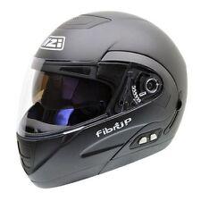 Matte Motorrad-Helme mit herausnehmbarem Innenfutter für XL (61)