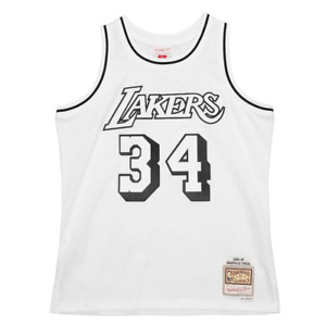 Mitchell & Ness White NBA Los Angeles Lakers 96-97 Shaquille O'Neal White Black