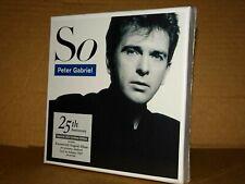 PETER GABRIEL So 25th Anniversary Box 3CD Limited Live in athens 1987 SIGILLATO