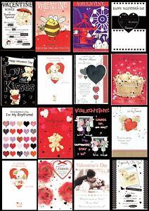 VALENTINE'S DAY CARD ~ ONLY 99p Each ~ Choice of DESIGNS ~ Valentine Valentines