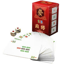 Paper Mah Jong Set of 144 MahJong Chinese Playing Cards Game Four Winds Travel