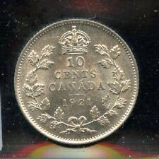 1921 Canada Ten Cents - ICCS AU-55 Cert#CY458