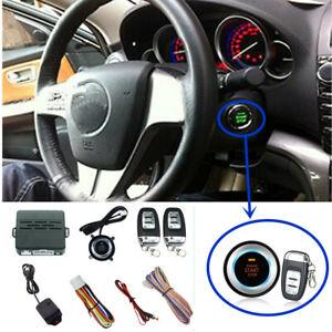 Auto Car Engine Start Push Button Keyless Entry Remote Control Alarm System Kit