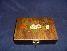 Wood Inlay Jewelry Music Box Made In Kimco Japan