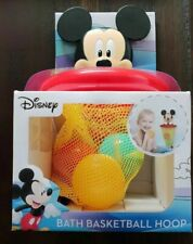 Disney Mickey Mouse Baby Bath Toy Floating balls BasketBall Hoop Suctions
