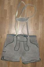 kurze Herren- Lederhose / Trachtenhose Leder Pants Shorts in grau ca. Gr. 46