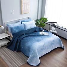 Blue Quilt Duvet Cover Set Double Size Bedding Set Doona Covers AU