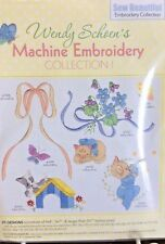 SEW BEAUTIFUL EMBROIDERY CD BY WENDY SCHOEN- PRETTY PUPPY CUTE KITTY