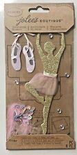 NIP GLITTER BALLERINA THEMED JOLEE'S BOUTIQUE PARCEL STICKERS DANCER SLIPPERS