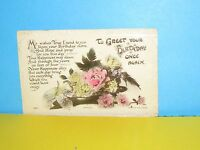 Cat Charity Auction Vintage Postcard To Greet your Birthday Once Again