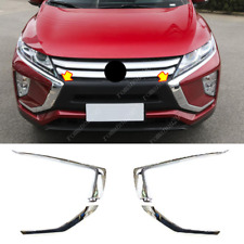 4X For Mitsubishi Eclipse Cross 2018-2020 Chrome Front Bumper Side Moulding Trim