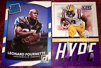 Leonard Fournette Jacksonville Jaguars NFL 2017 RC football ROOKIE card LOT X2 !