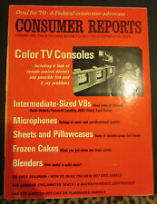 Consumer Reports Vol. 35 #1 January 1970 Vintage Consumers Union of US Inc.