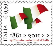2011 150° Anniversario Unità d'Italia - giro di 16 foglietti su lamina d'argento