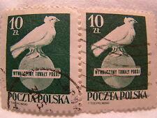 Poland Stamp 1950 Scott 475 A172 Peace Day Green 10 Zt Set of 2