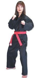 KANKU New Karate Uniform Red, Black, White 10 oz Medium Weight Adult, Kids