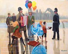 "LEON Goodman original huile sur toile "" 2019 Angleterre"" Dickensian London peinture"