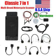 USA Ship Classic 7 in 1 Motorcycle Scanner Motorbike Repair OBD2 Diagnostic Tool