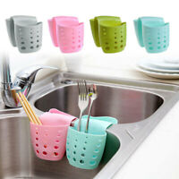 Kitchen Sink Sponge Holder Bathroom Hanging Strainer Organizer Storage Rack Tool