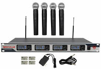 Rockville RWM4200VH VHF (4) Wireless HandHeld Microphones 4 Church Sound Systems