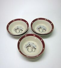 "6 Royal Seasons Stoneware 6-3/4"" Bowls-Snowmen"