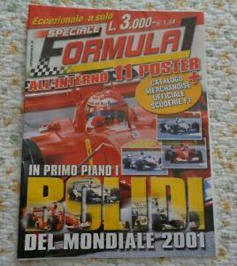 FORMULA 1 IN PRIMO PIANO I BOLIDI DEL MONDIALE 2001 ALL'INTERNO 11 POSTER