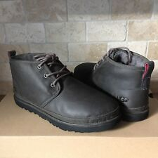 90df00cef5f UGG Neumel Charcoal Grey Waterproof Leather Chukka Ankle Boots Size US 9  Mens