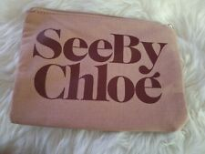 See By Chloe khaki bag pouch Cosmetics bag100% Authentic with card- great gift