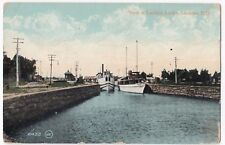 Canada, Quebec; View of Lachine Locks PPC, 1911 PMK, By Valentines