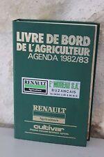 Livre de bord de l'agriculteur - Agenda 1982 1983 - Renault - Cultivar
