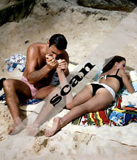 JAMES BOND GIRL Claudine Auger & Sean Connery THUNDERBALL 8X10 PHOTO #949