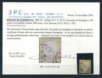 Sardegna 1855 Sass. 17A Usato 100% Cardillo Certificato