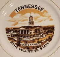 VTG Tennessee Souvenir Collectible Porcelain Plate The Volunteer State Capital