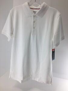 French Toast Boys Short Sleeve Polo School Uniform Shirt White Size XL NWT =