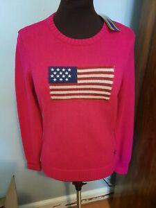 Womens Lauren by Ralph Lauren Sweater SZ Medium Aruba Pink NWT