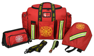 Lightning X Premium Firefighter Turnout Gear Bag Captain's Bundle w/ Glove Strap