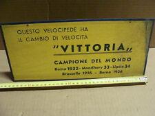CARTELLO VITTORIA CAMBIO VELOCITA' PROMO CAMPIONE DEL MONDO BIANCHI MAINO FREJUS