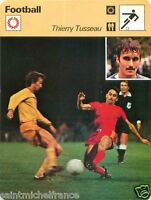 FICHE CARD : Thierry Tusseau  FRANCE   FOOTBALL 70s