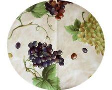 Runde Tischdecken mit Essen- & Trinken für die Küche
