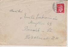 1943 Deutschland Auschwitz KZ Cover KZ nach Böhmen F Lokoma