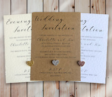 50 Wedding Invitations Evening Invites Personalised & Handmade with Envelopes