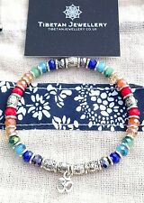 Beautiful Multi-coloured RAINBOW Stretch Bracelet Chakra Reiki Om Aum Yoga