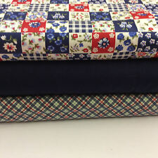 Cotton Poplin Fabric Fat Quarter Bundle x 3 Fabrics