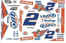 #2 Rusty Wallace SNAP-ON Miller Charger 1/64th HO Slot Car Decals