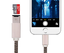 8PIN USB Flash Drive Data Cable TF Micro SD Card Reader OTG for iPhone 7 6S
