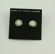 Hot Marc by Gold Silver Hhexagon Letters Logo Disc Earrings #e028x Black #e0283