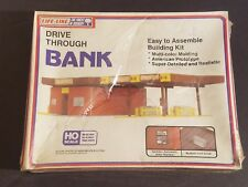 NEW SEALED Life-Like 1360 Drive Through Bank HO Scale Plastic Model Kit