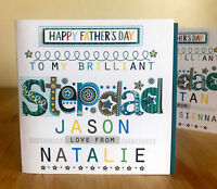Stepdad Father's Day card personalised Special Stepdad card for Fathers Day