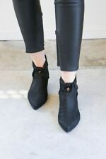 LD TUTTLE SHOES THE MARBLE KNOT BOOTIES BLACK LEATHER POINTY ANKLE BOOT 39 $645